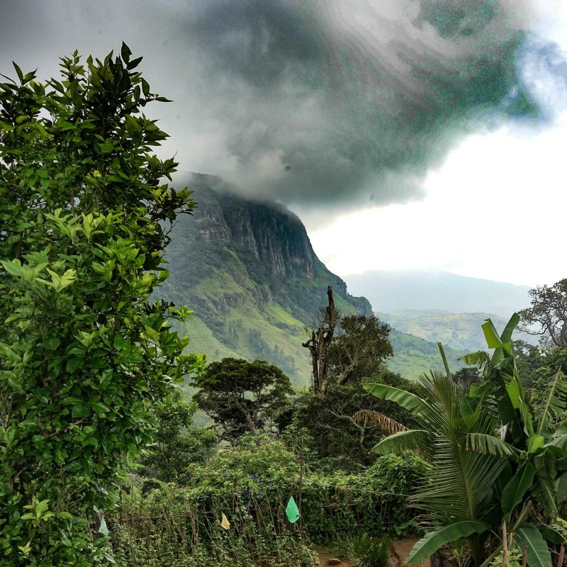 Knuckles mountains in Sri Lanka