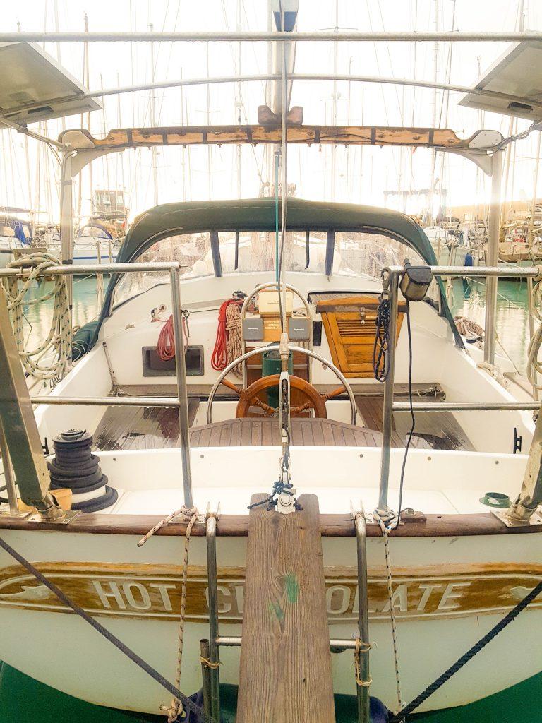 Our sailboat, a kadey krogen 38