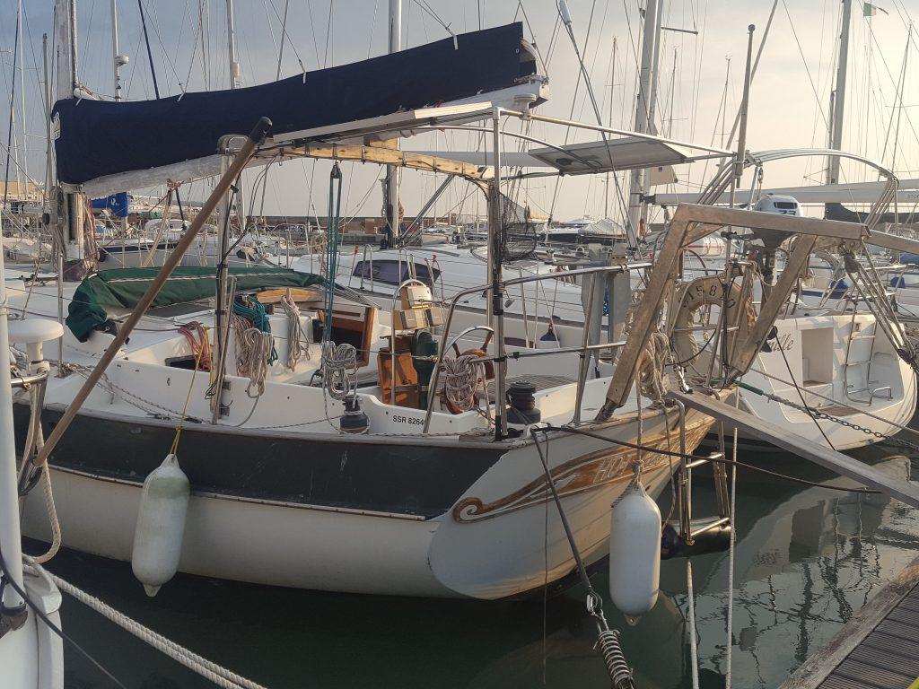 a sailboat in marina di ragusa