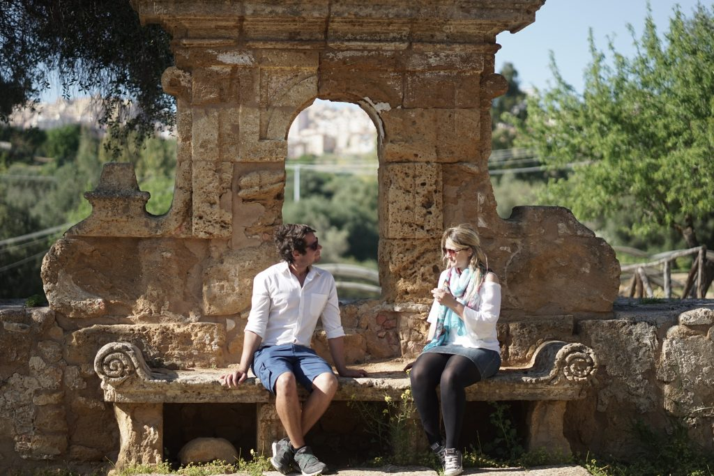 The Valley of the Temples, Sicily-having a chat