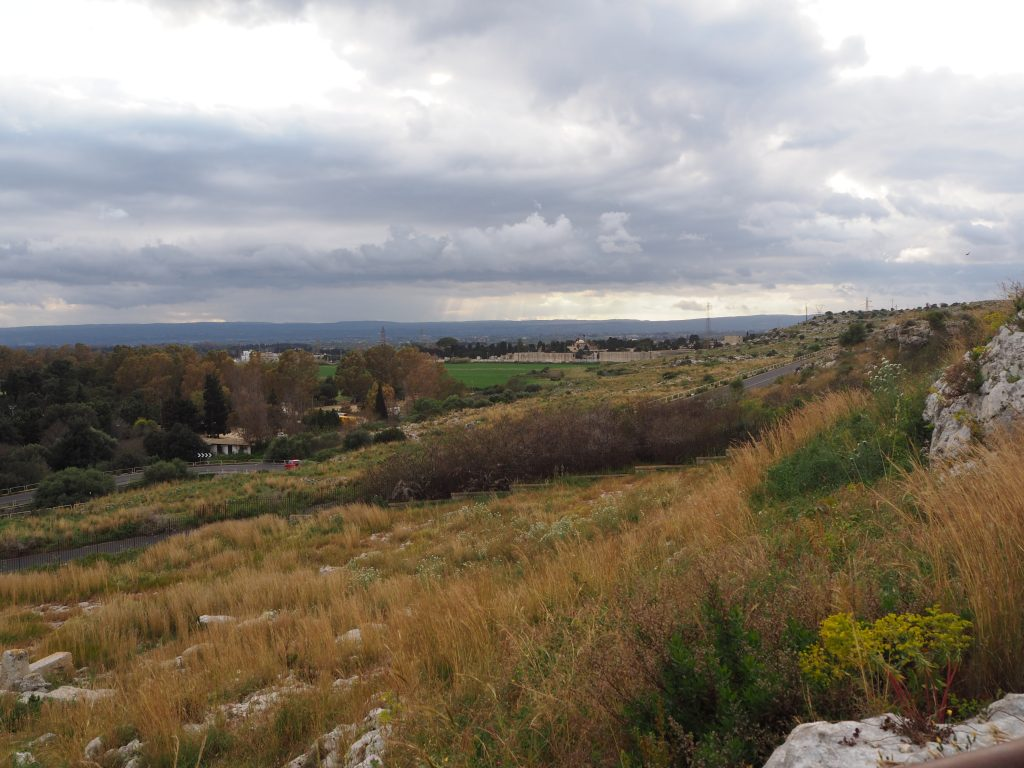 Visiting Syracuse's archaeological park-views from the top