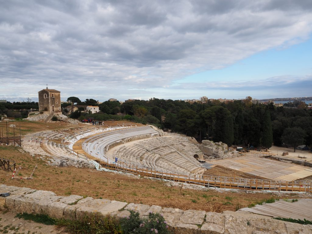Visiting Syracuse's archaeological park-the Greek theatre