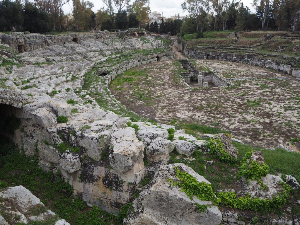 Visiting Syracuse's archaeological park-roman amphitheatre
