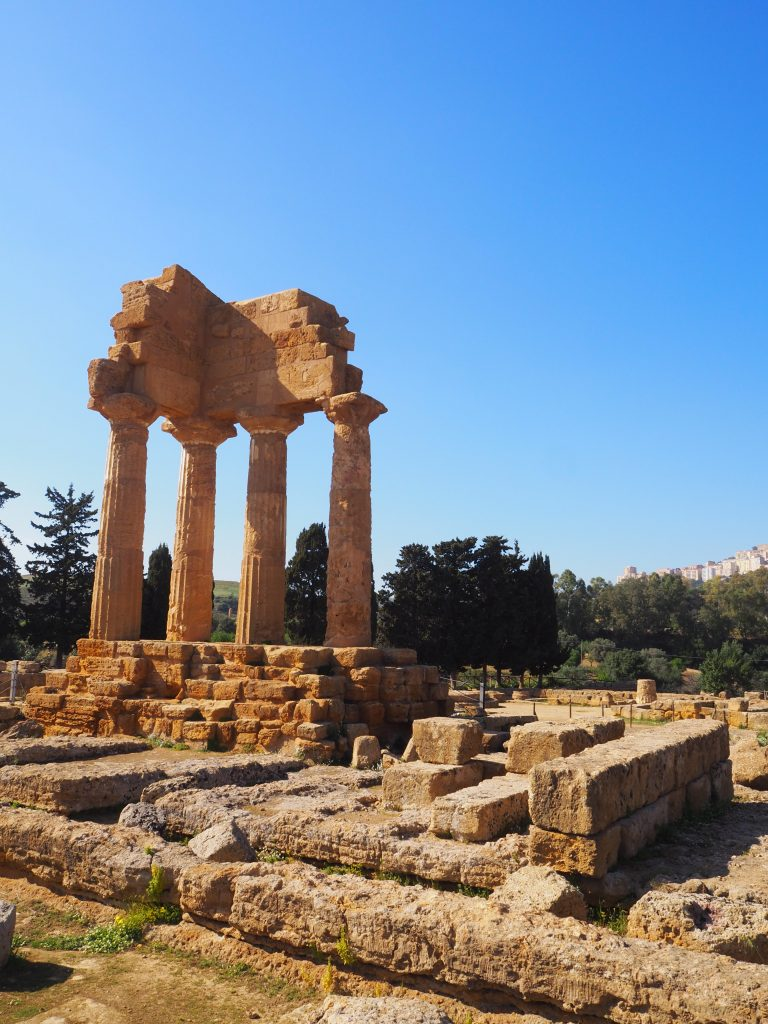 The Valley of the Temples, Sicily-temples of castor and pollox