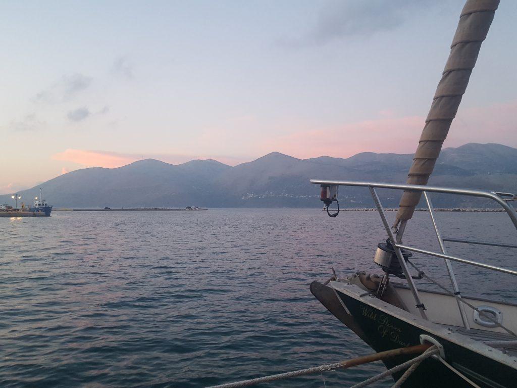 Hazy sunset in Lixouri, Kephalonia