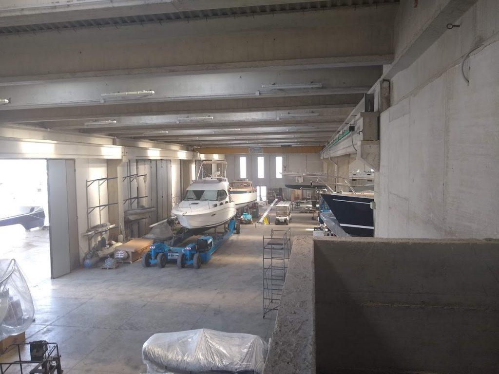 Inside the boat maintenance yard