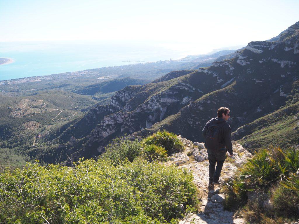 trekking in the mountains behind sant carles de la rapita
