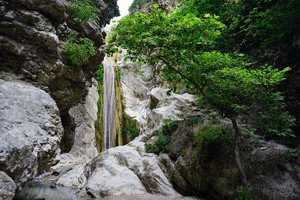 exploring waterfalls in Greece