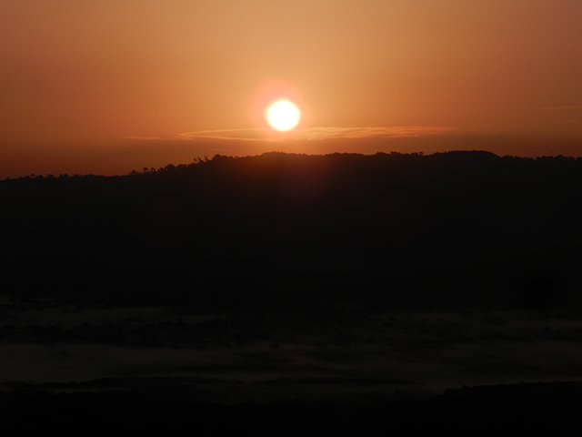 Sunrise over Kakamega rainforest