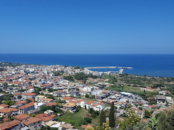 Views of Kyparissia town from the castle