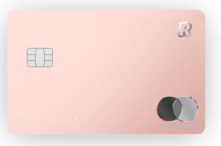 A, pink revolut card