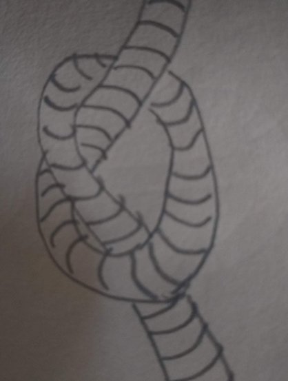 Drawing of a knot