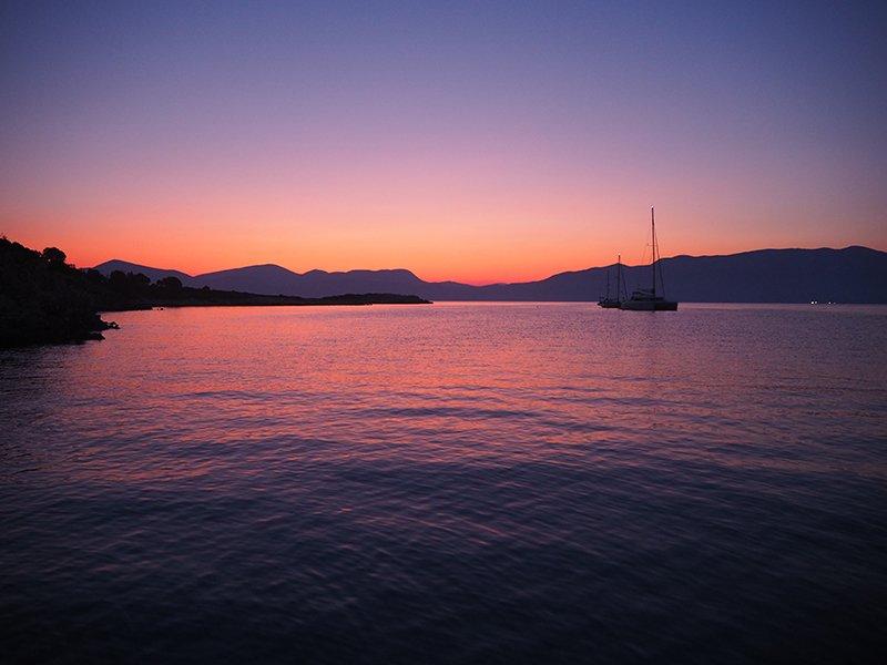 Kastos island at sunrise