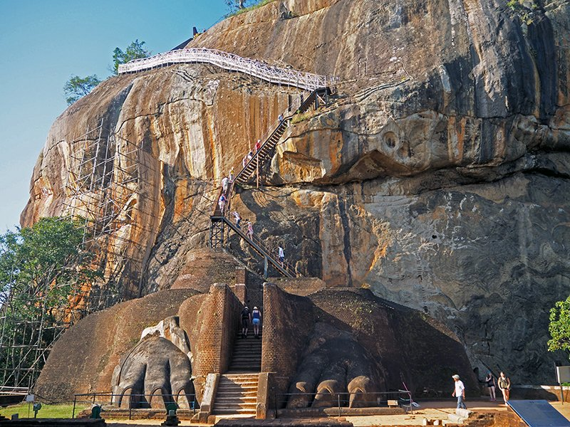 The foot of lion rock in sigiriya on a five day intinerary