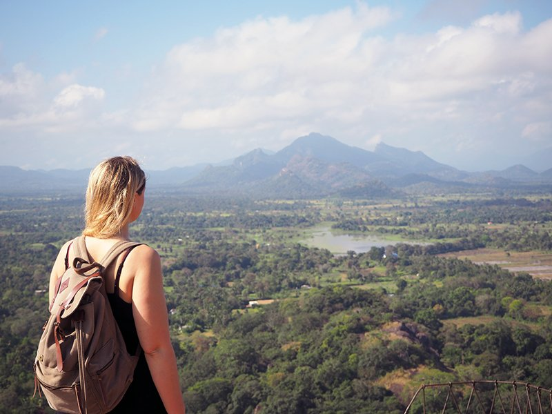 VIEW FROM THE TOP OF THE BEST THING TO DO IN SIGIRIYA, SIGIRIYA ROCK