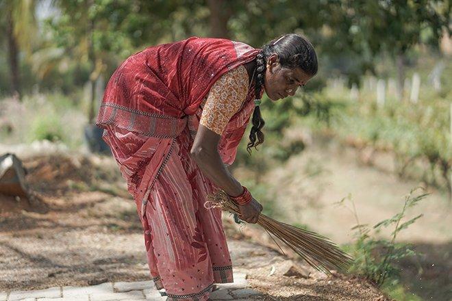 A sri lankan women sweeping the tea fields, seen on a 5 days in sri lanka trip