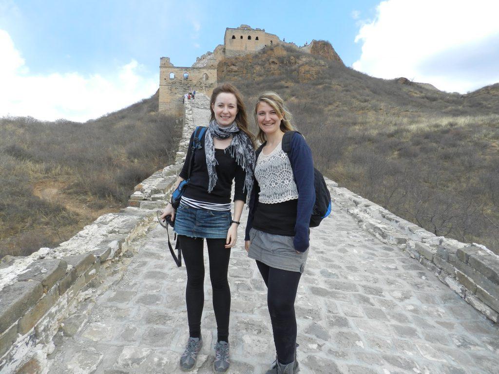 WALKING ALONG THE GREAT WALL OF CHINA