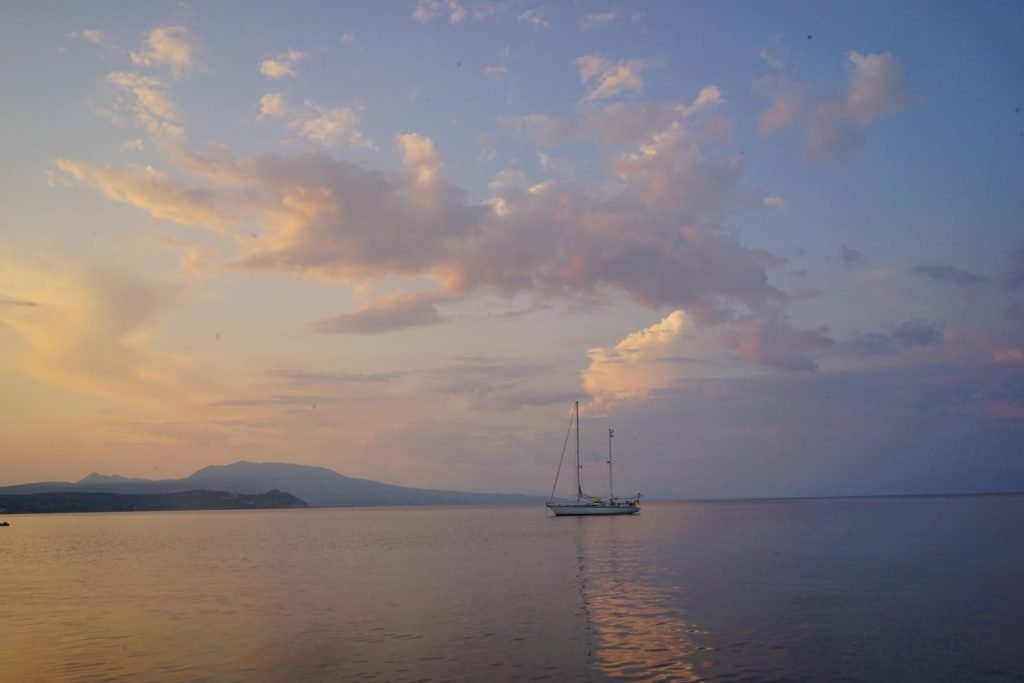 koroni sunset in greece