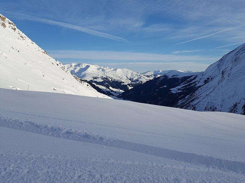 FRESH SNOW ON A BUDGET SKI RESORT MOUNTAIN