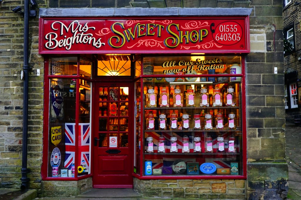 Mrs Beightons Sweet Shop in haworth village centre