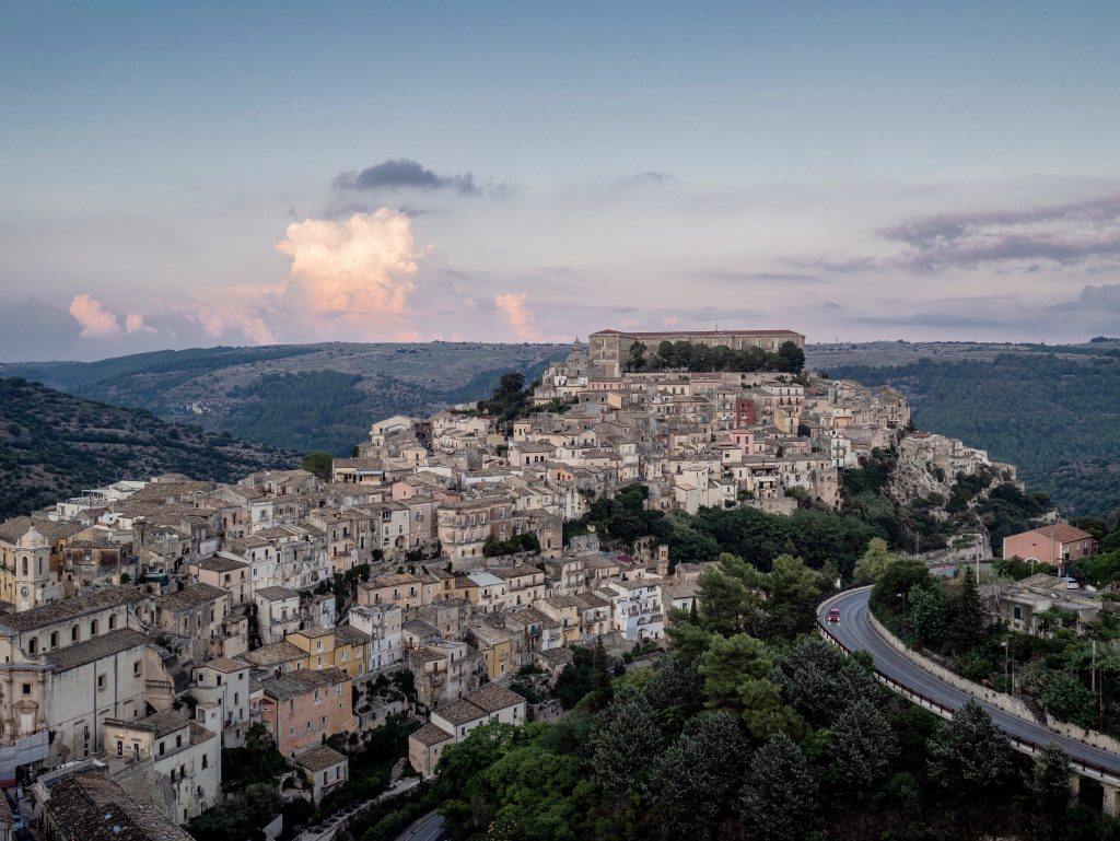 View from ragusa superiore looking down onto ragusa ibla
