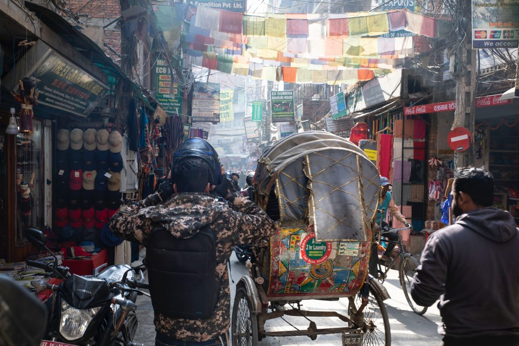 BACKPACKING IN NEPAL REQUIRES GETTING AROUND BY RICKSHAW