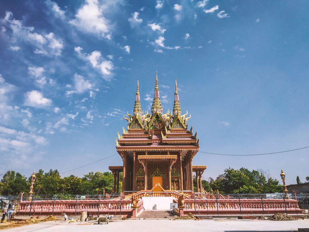 A BUDDHIST TEMPLE IN LUMBINI, THE BIRTHPLACE OF BUDDHA