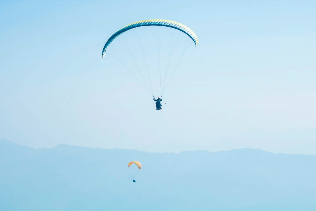 PARAGLIDING IN POKHARA IN NEPAL