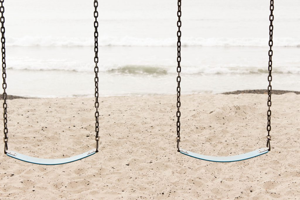 two swings showing you should look after your own mental health too