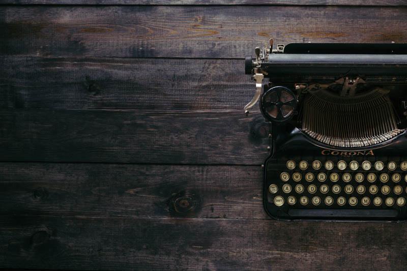 a typewriter to make spellings fun to practice