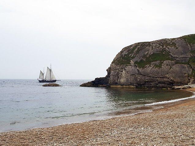 the smaller beach at durdle door in England