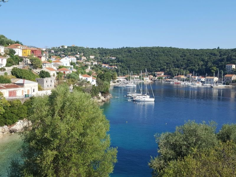 The town of Kioni in Ithaka