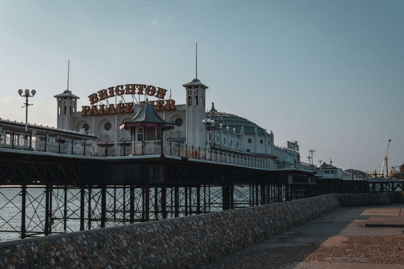 Brighton pier in the sujnshine