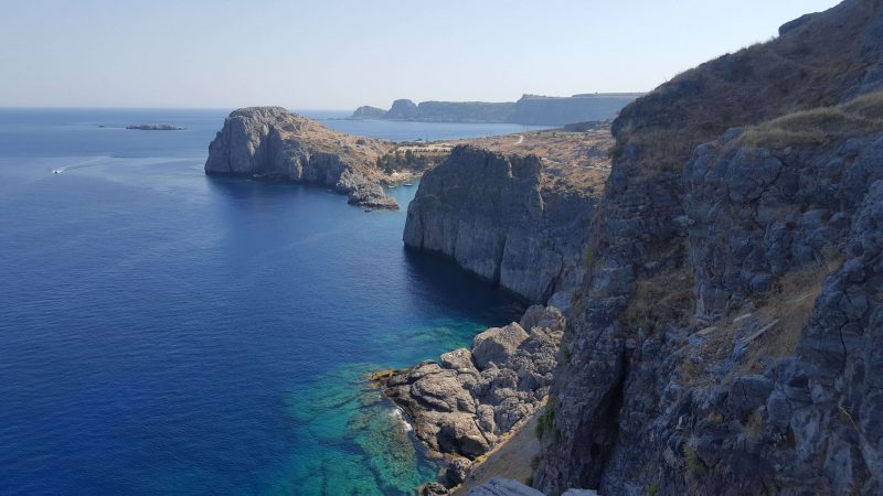 the view from the lindos castle