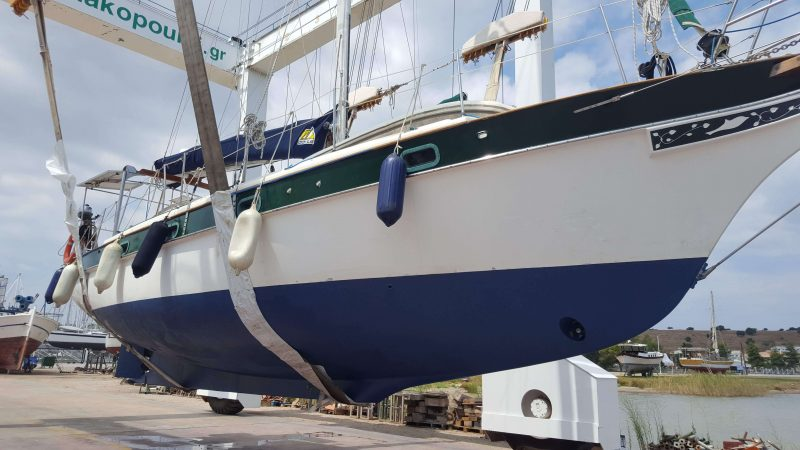 our sailboat with a shiny new bottom