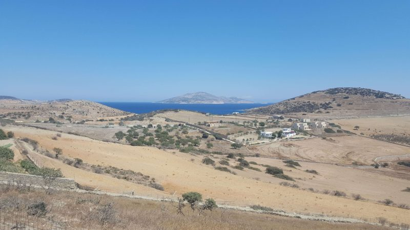 the view of a greek island