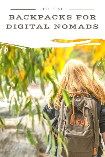the best backpacks for digital nomads pin