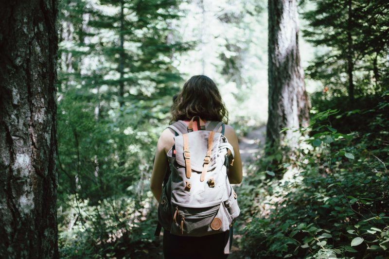 a girl hiking for free in asheville
