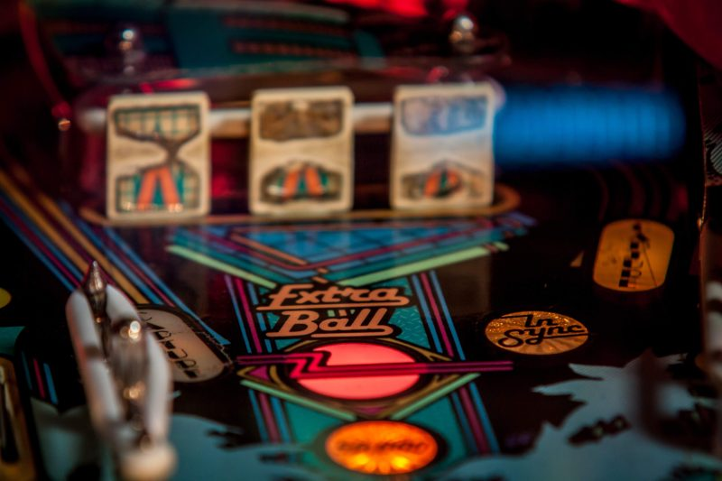 a pinball machine - a fun free thing to do in asheville