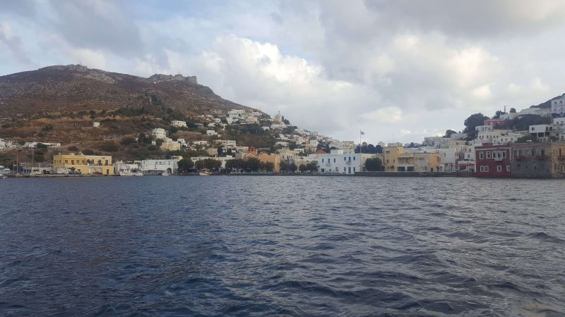 the view of agia marina on leros island in greece