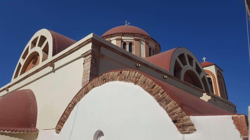 a church on leros island