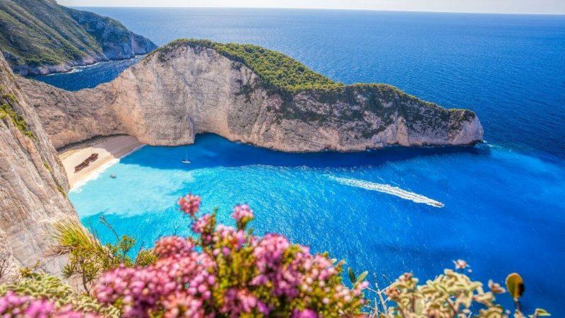 a beach in greece on a greek island hopping route