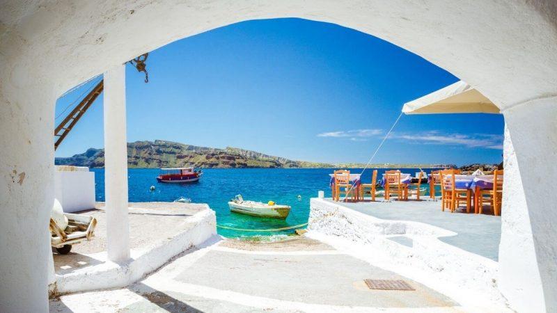 a hotel in santorini in Greece