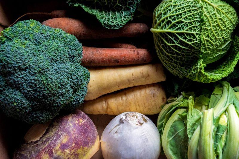 winter veg in a basket