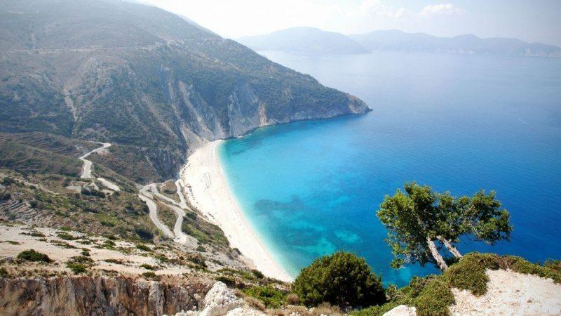 a beach on the greek island of kephalonia