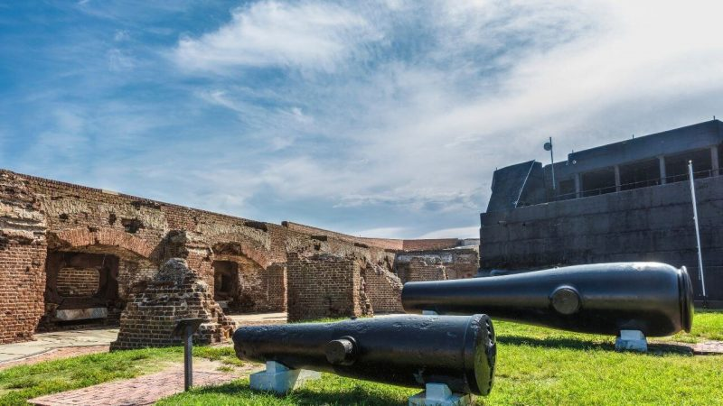 Visiting fort Sumter is one of the best things to do in Charleston