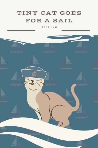 tiny cat goes for a sail