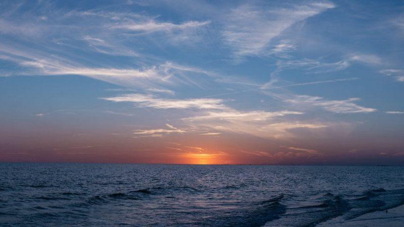 sunset on a beach in Ios