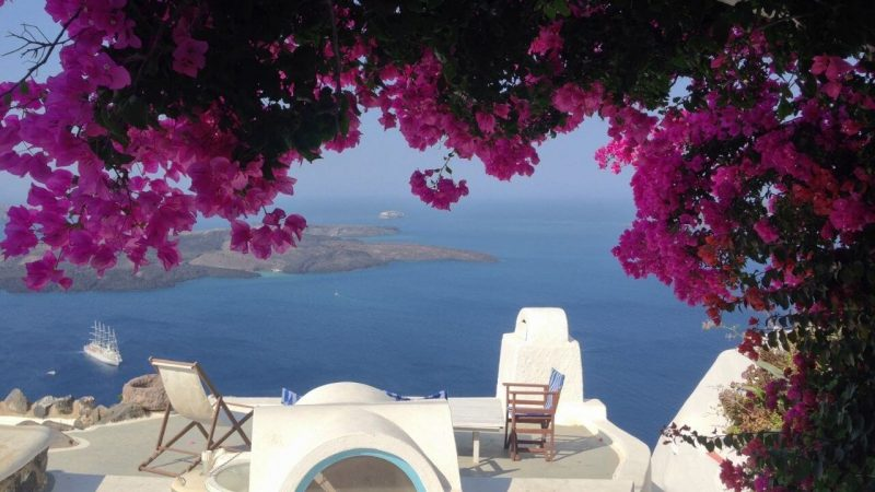pretty views from a greek hotel