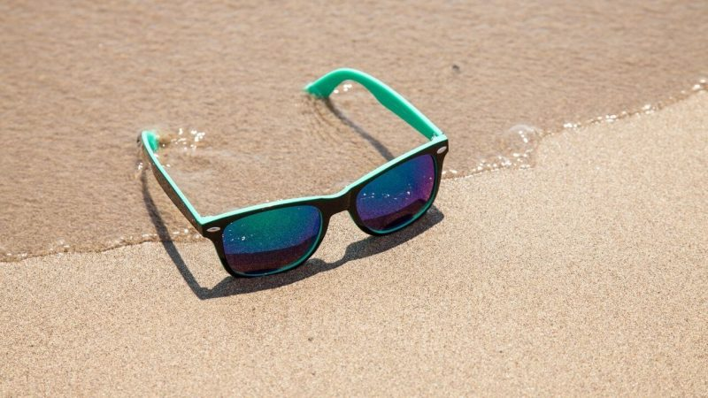 a pair of sunglasses for sailing in the sea